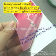 Transparent Adhesive Label Coated With Gloss Or Matt Varnish,printable Adhesive Label,custom Adhesive Sticker Labels
