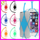 Universal silicone necklace lanyard phone holder/necklace lanyard smart cell phone holder/mobile phone strap holder