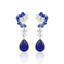 Joyería de moda Blue Stone Pendientes elegantes
