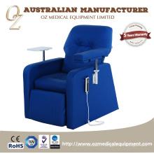 Chaise de don de sang de chaise d'hôpital de dialyse électrique luxueuse de meubles médicaux