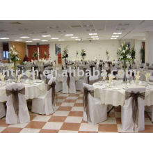 Polyester chair cover,banquet/wedding/hotel chair covers,organza sash