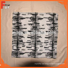 Kaninchenfell, gefärbt & Printed Fur Cushion
