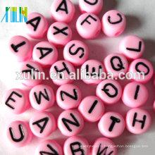 stock unique lettre de chaque sac alphabet en plastique oblat perles 4 * 7mm