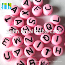 estoque única letra de cada saco oblato plástico alfabeto beads 4 * 7mm