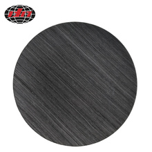 Round Gray Grain Plastic Charger Plate