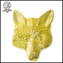 Pin de metal animal de oro Fox