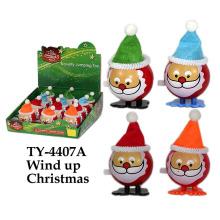 Divertido viento hasta juguete de Navidad