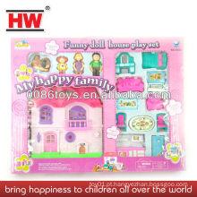 Princesa crianças brinquedo casa de boneca de plástico