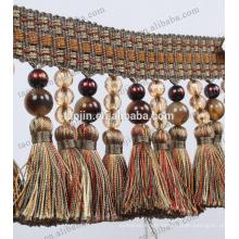 2016 La plus nouvelle crémaillère de perles de rideau perlée de franges à perles pour tapis