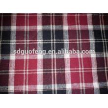 100% algodão tecido tingido de flanela tecido de flanela 20 * 10 40 * 42 63 '