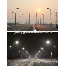 2015 mejores ventas doble y solo brazo poste de iluminación, poste de acero galvanizado calle luz