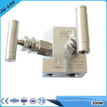 High pressure stainless steel 2 way manifold