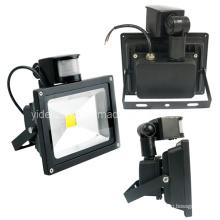 Impermeável IP65 alta potência PIR sensor exterior segurança LED Floodlight