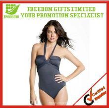 Traje de baño de las mujeres atractivas impresas logotipo superior de calidad