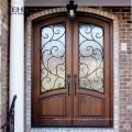 Новый дизайн дешевой цене роскошных двойных деревянных дверей