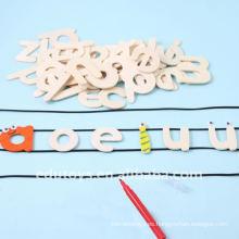 Arte y artesanía de jardín de infancia Conjuntos Alfabeto de madera Letters for Crafts
