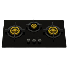 Supreme Unique Three Brass Burner Gas Stove (8mm Glass)