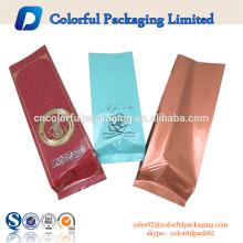 Kundenspezifische Druckseitenfalten-Aluminiumfolie-Kaffeetasche / Kaffeeverpackungsbeutelgroßhandel