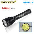 Maxtoch SN6X-18 6000 Lumen alta potência lanterna LED