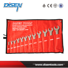 12PCS (6-32) Hanging Bag Double Open End Wrench Set