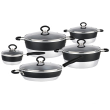 Fashion Hot Sale Aluminum Cookware Set with Non-Stick Coating