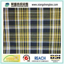 Tecido de fios de algodão verificado para camisa (100% algodão)