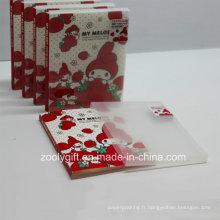 """Albums imprimés en plastique PP / PVC 4X6 """"avec boîte transparente"""