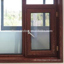 NAMI/AAMA/WDMA Certified European Tilt Turn Thermal Break Aluminum casement 28 aluminium window with wood grain finishing