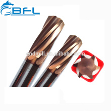 Alésoir à main en carbure de tungstène BFL-Hard / Fraise à découper de haute qualité avec 6 flûtes