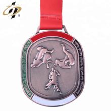 Atacado personalizado 3d bronze metal medalha de judô campeonato para os Emirados Árabes Unidos