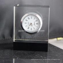 Relógio de mesa de cristal design simples relógio de cristal personalizado