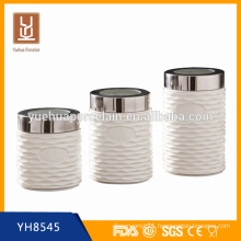ceramic tea coffee sugar canister set / wholesale tea canisters