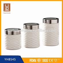 Hot barato porcelana cerâmica chá açúcar café Canisters vasilhas de cozinha