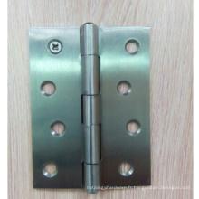 3,4,5 pouces zéro roulement à billes polissage des charnières arrondies de porte pour la porte intérieure, RDH-03