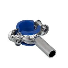 Titular de tubulação redonda sanitária com borracha