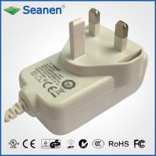 12V 1.5A adaptador de energia para dispositivos móveis, Set-Top-Box, impressora, ADSL, áudio e vídeo ou eletrodomésticos