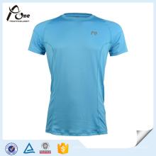 Mens 100% Microfibra Poliéster Dri Fit Camiseta Running Wear