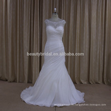 UJ604 latest organza pleated mermaid dresses / burqa designs pictures wedding dress