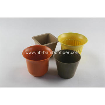 Bamboo fiber large opening flower pot