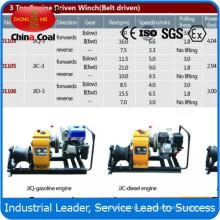 JJQ-3 3 тонны Бензиновый двигатель работает Лебедка для энергетического строительства
