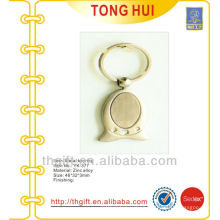 Metal Cap shape blank keychain/keyrings for promotion gifts