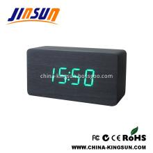 Wooden Digital Alarm White Led Clock