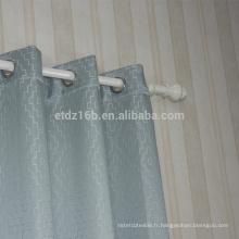 Tissu de rideau de fenêtre à broder en polyester à nouvelle arrivée
