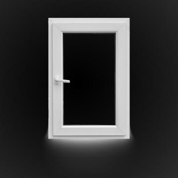 Porta giratória dupla de PVC com vidro duplo preenchido com argônio