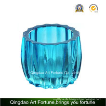 Ribbed Printed Glass Votive Candle Holder Supplier