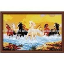 Projetos animais da pintura do cavalo do tecido