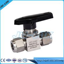 One piece instrument ball valve