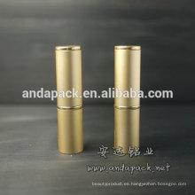 Lápiz labial de envases de maquillaje oro
