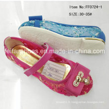 Hot Sale Kids Princess Shoes Chaussures simples Chaussures de danse (FF0724-1)