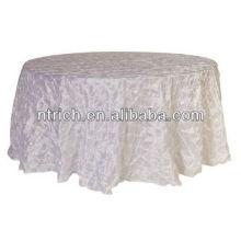 Lujo del molinete pinchado tafetán manteles para boda, fiesta y banquete